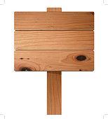 Vector wooden sign
