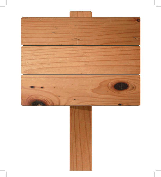 stockillustraties, clipart, cartoons en iconen met vector houten teken - plank timmerhout
