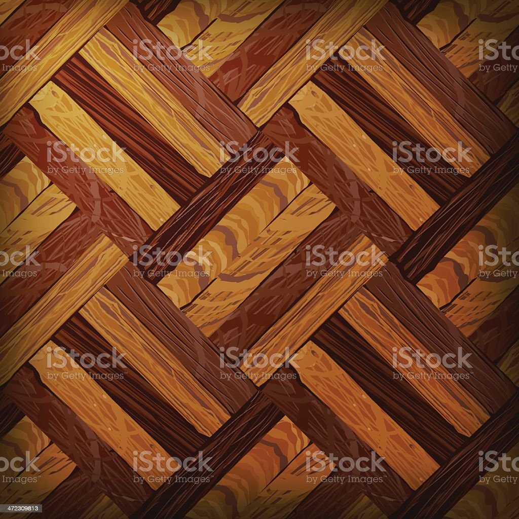 Vector Wooden Texture, Tilable vector art illustration