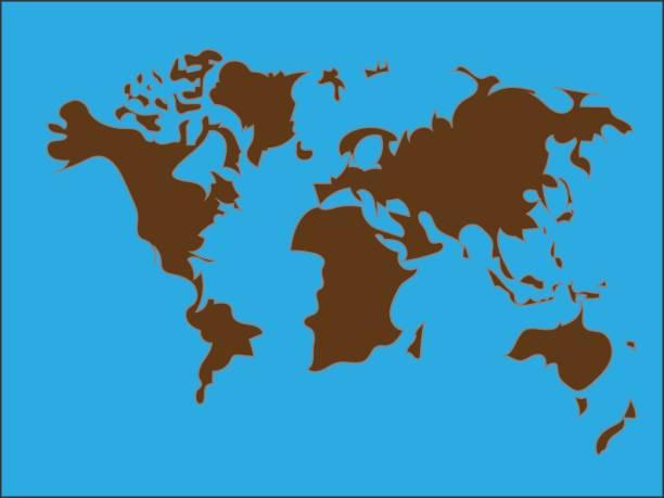 Vektor-Welt-Map-Hintergrund – Vektorgrafik