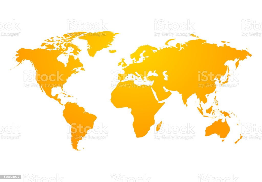 Map Of America Over Australia.Vector World Map Global Earth Icon America Asia Australia Africa Usa
