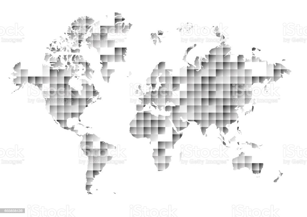 Vector world map on abstract triangle and square background stock vector world map on abstract triangle and square background royalty free vector world map gumiabroncs Image collections