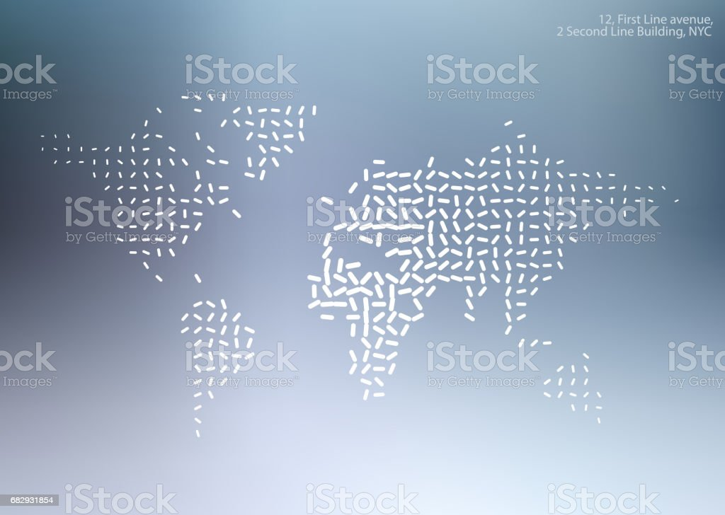 Vector world map with sticks, lines for business templates, broc royalty-free vector world map with sticks lines for business templates broc stock vector art & more images of abstract