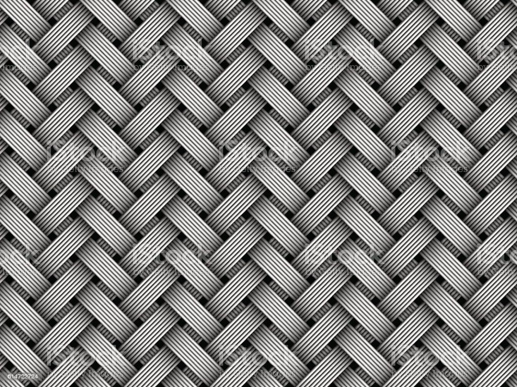 Vector woven fiber seamless pattern vector art illustration