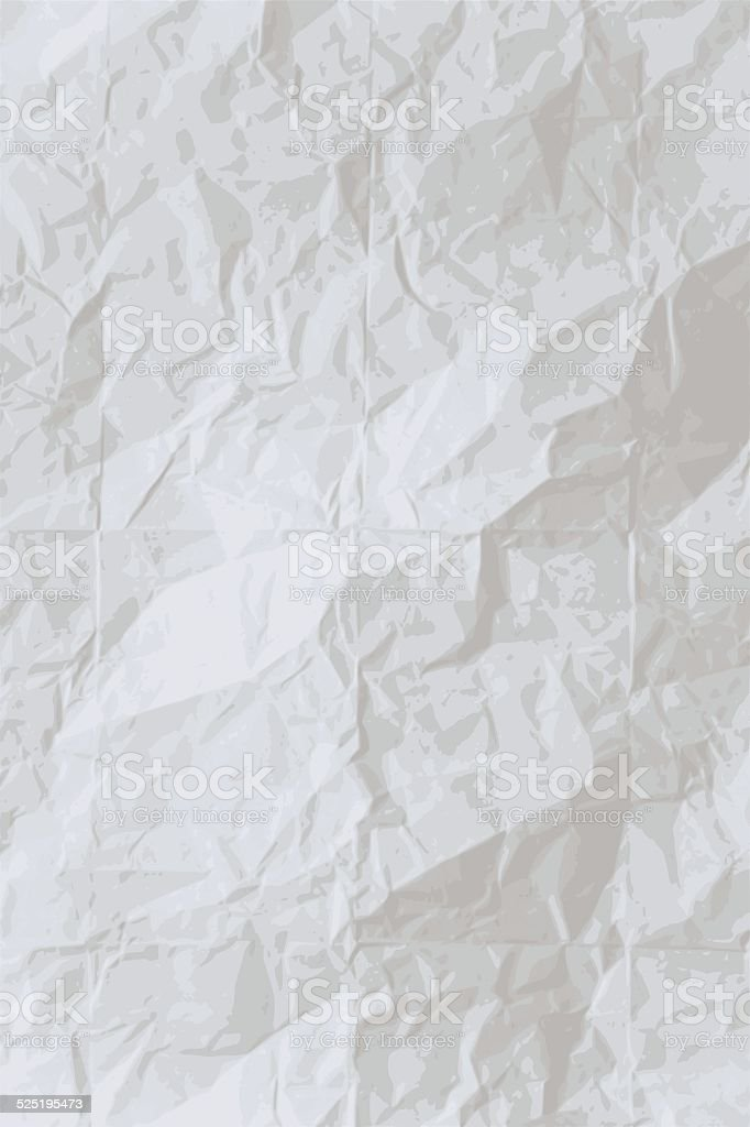 Vector wrinkled paper background vector art illustration