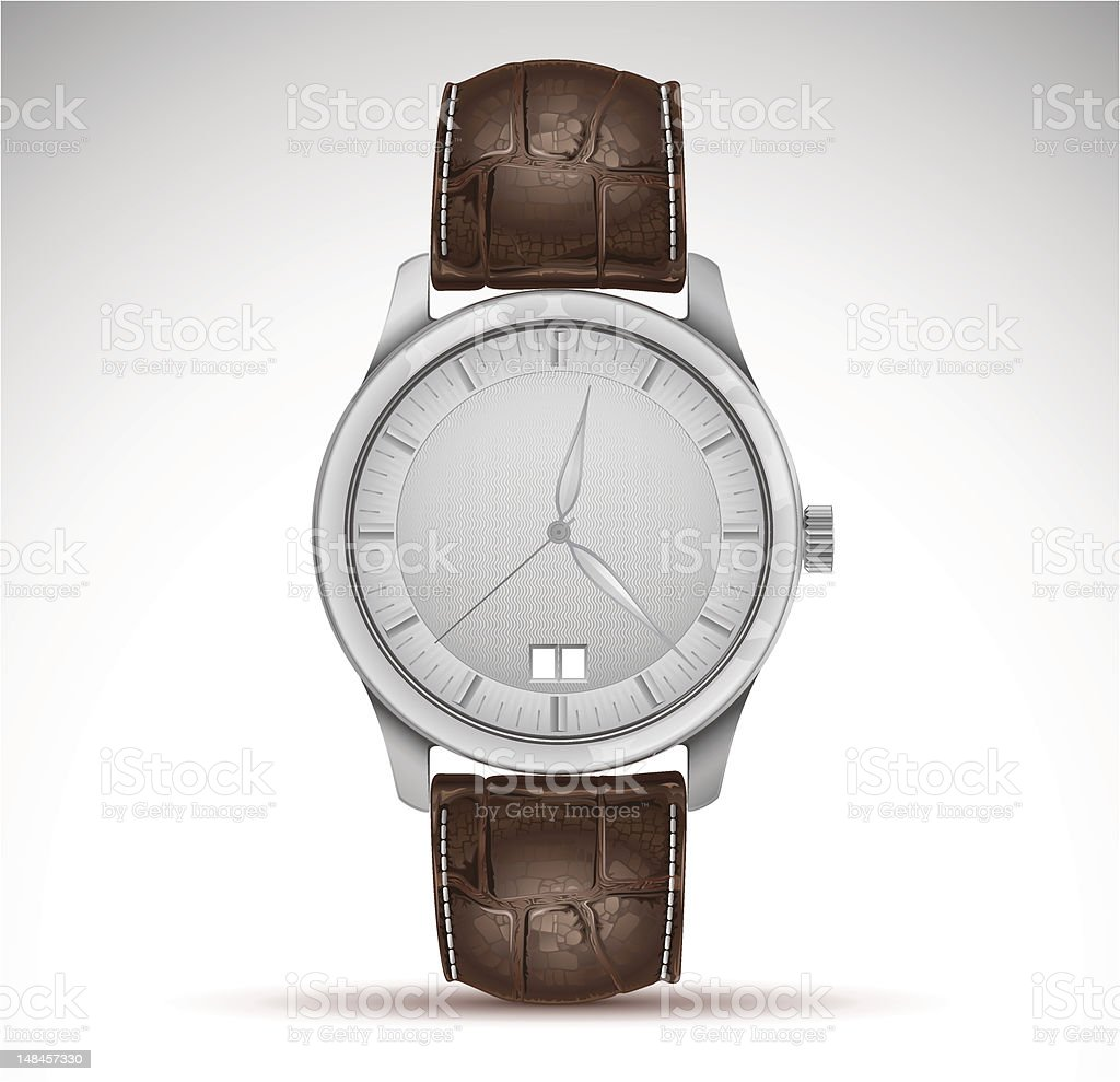 vector wristwatch vector art illustration