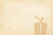 Grunge Vector Xmas background illustration. Beige vintage paper with a partially visible snowflake to the left side. Ample copy space. Apt Christmas background in neutral earthy tone. Can also be used in gift wrapping sheets.