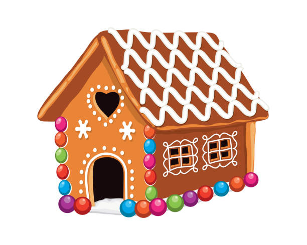 Best Gingerbread House Illustrations, Royalty-Free Vector ...