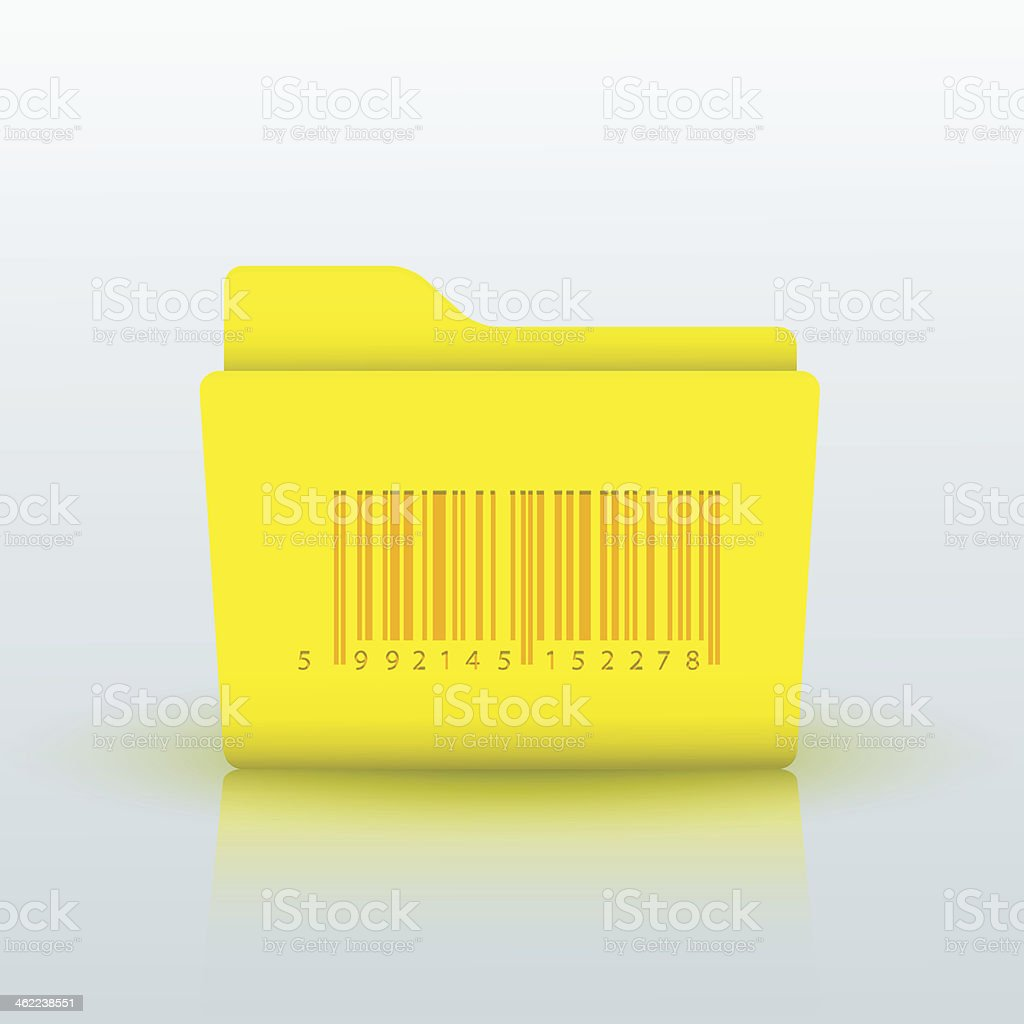 Vector yellow folder on blue background. Eps10 royalty-free vector yellow folder on blue background eps10 stock vector art & more images of bar graph