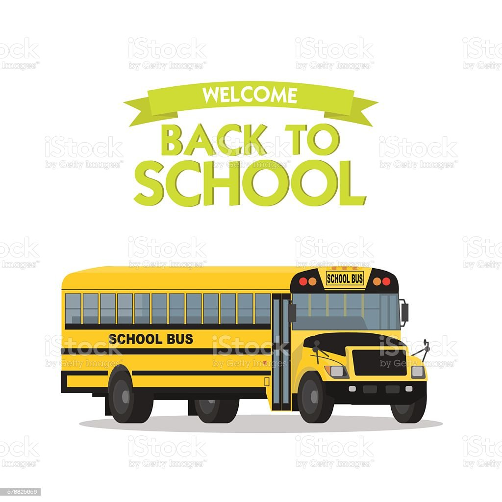 vector yellow school bus isolated on white background arte