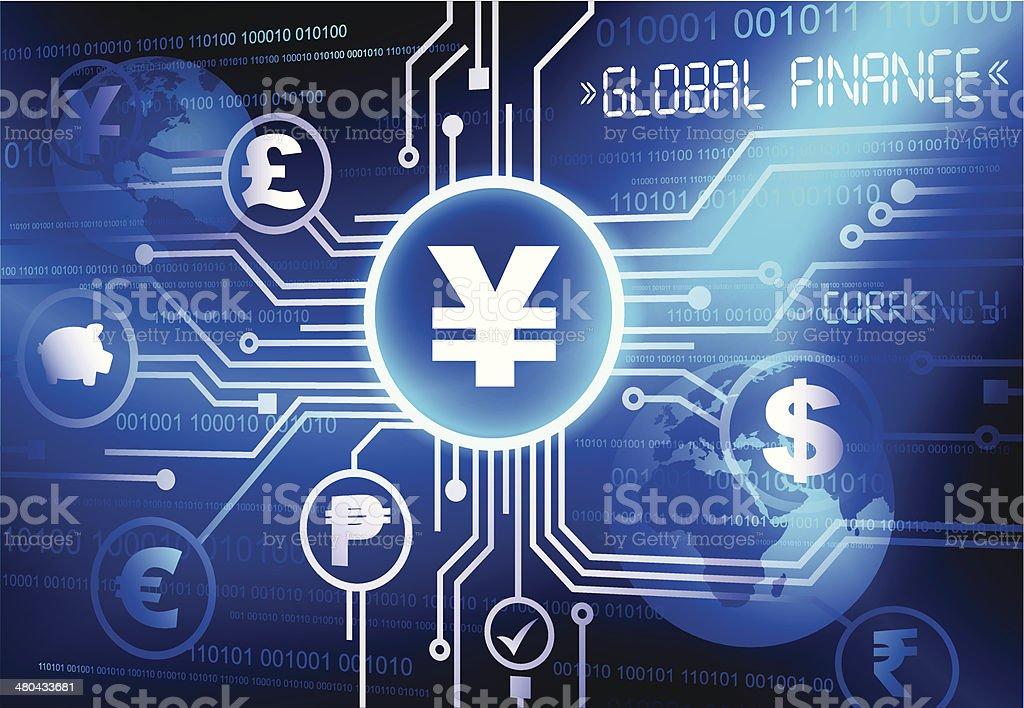 Vector Yen Currency System vector art illustration