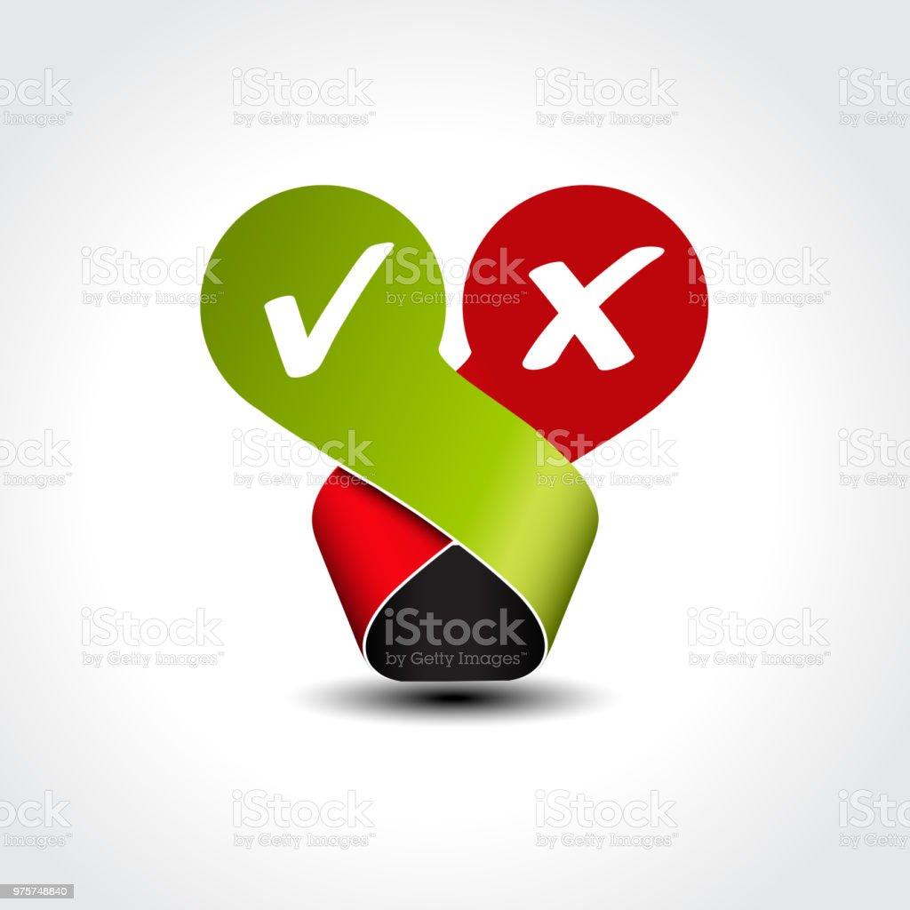 Vektor ja kein Label - Häkchen-symbol - Lizenzfrei Approved - englischer Begriff Vektorgrafik