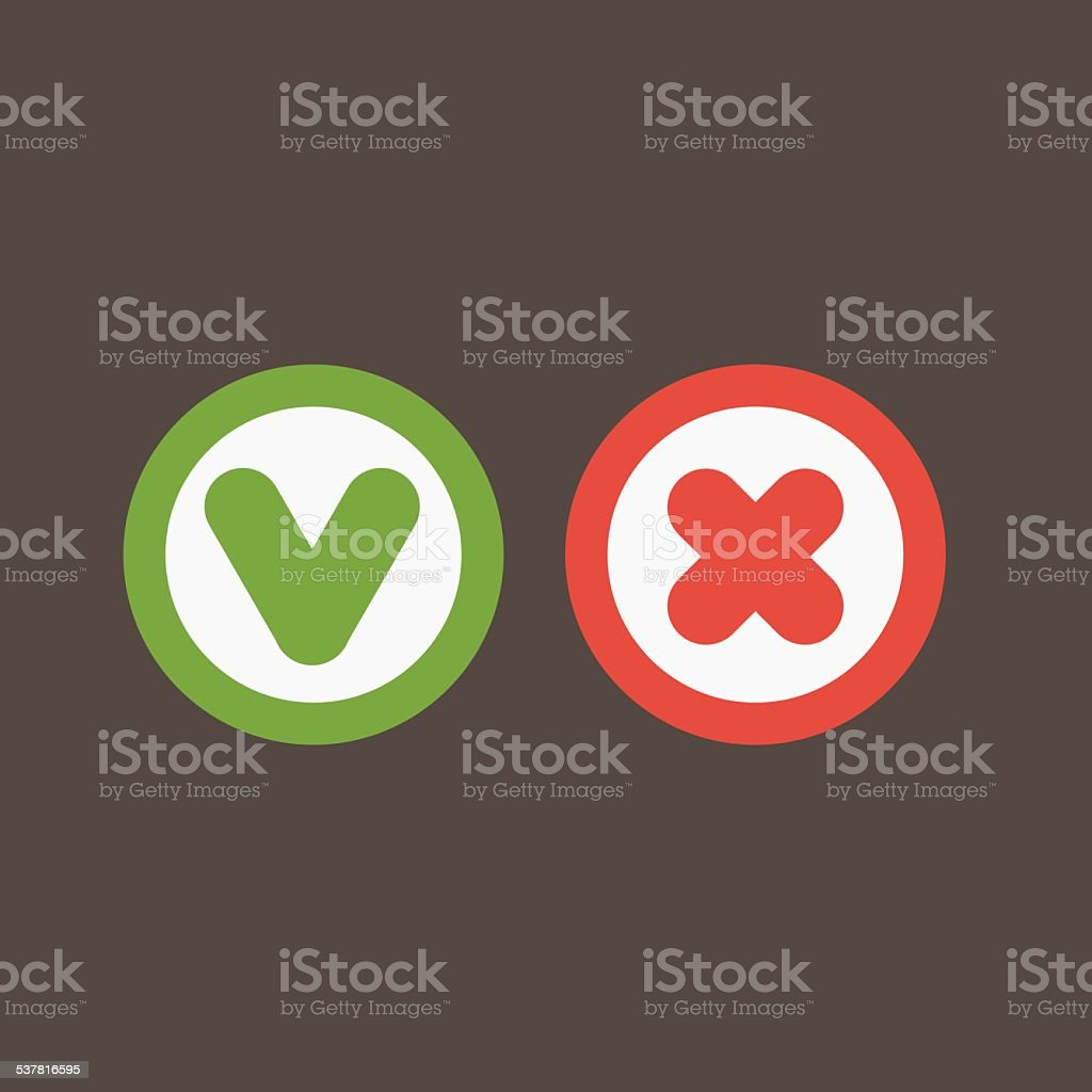 Vector Yes/No buttons vector art illustration