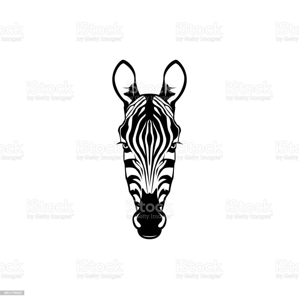 Vector Zebra Head Face For Retro S Emblems Badges Labels Template ...