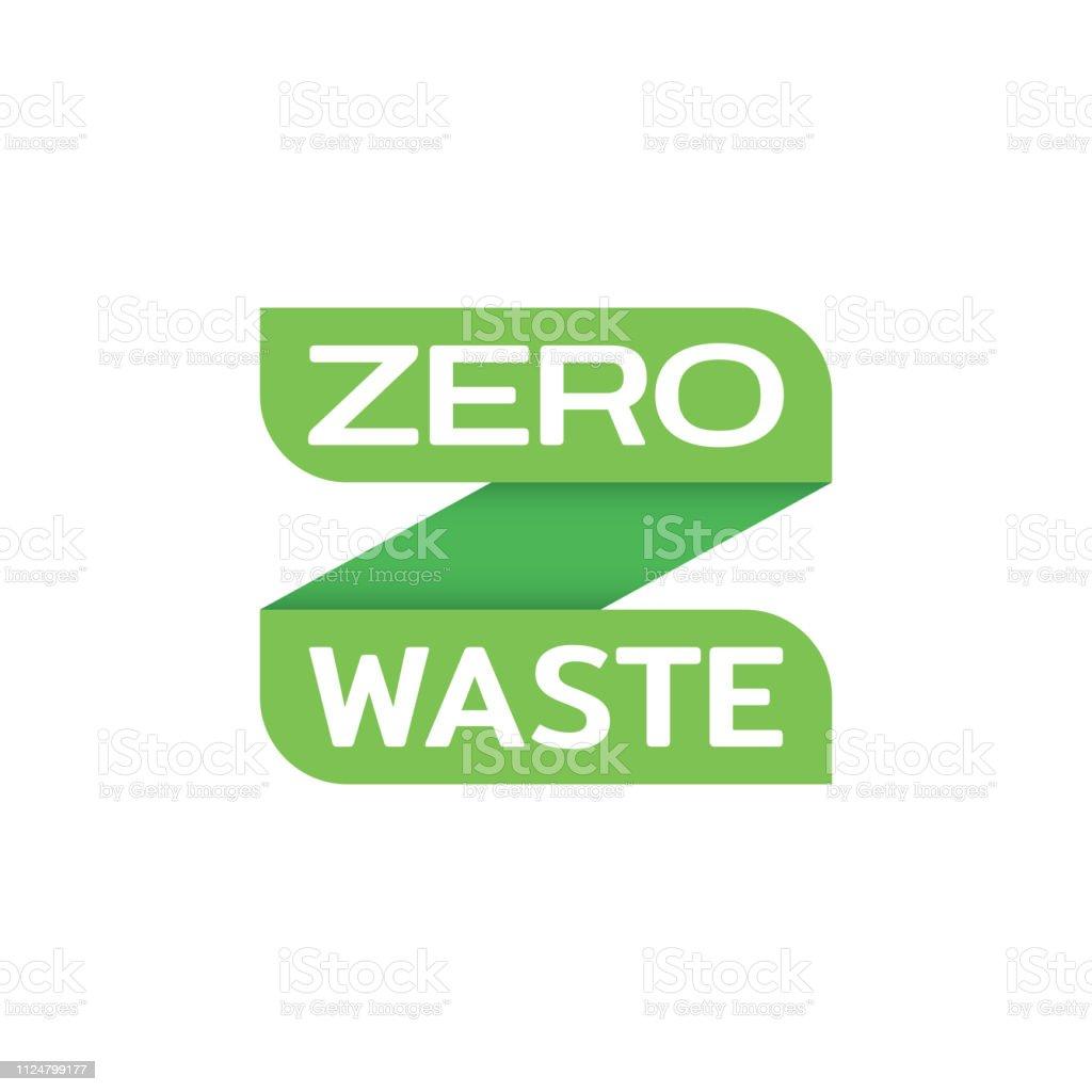 Vector Zero Waste Logo Design Template Stock Illustration