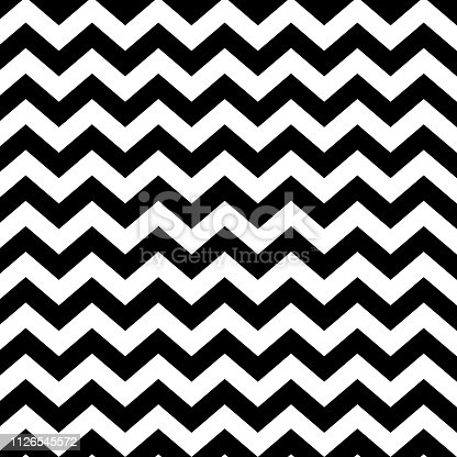 istock Vector zigzag seamless striped pattern - minimalistic design. Linear background 1126545572