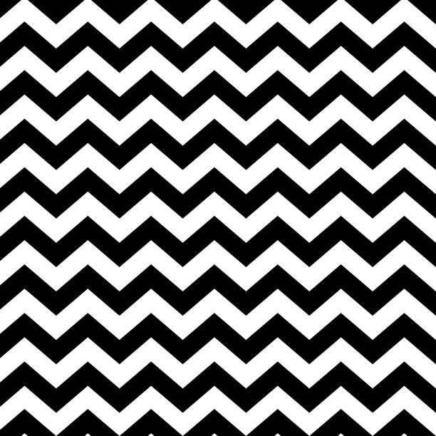 Vector zigzag seamless striped pattern - minimalistic design. Linear background Vector zigzag seamless striped pattern - minimalistic design. Linear background zigzag stock illustrations