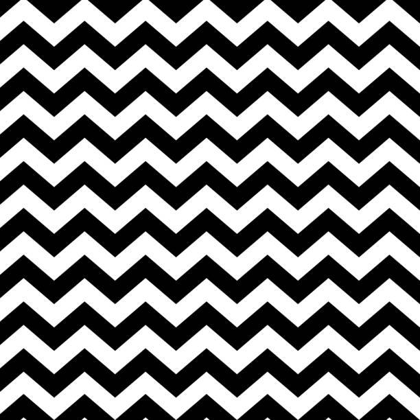 illustrazioni stock, clip art, cartoni animati e icone di tendenza di vector zigzag seamless striped pattern - minimalistic design. linear background - zigzag