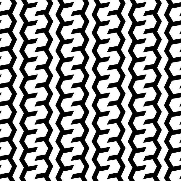 Vector zigzags or tires seamless pattern style for corporate background. vector art illustration