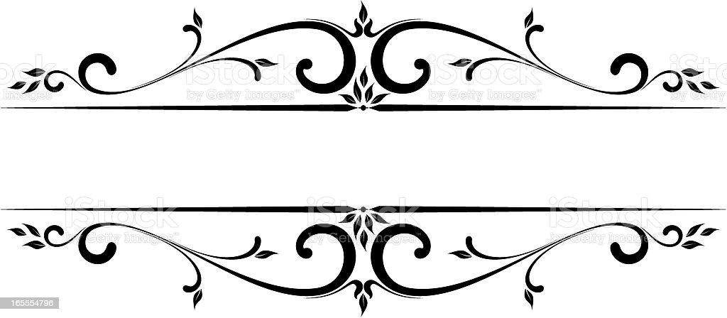 vector_floral_accent royalty-free stock vector art