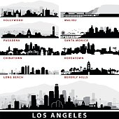 Series of Los Angeles Cityscapes
