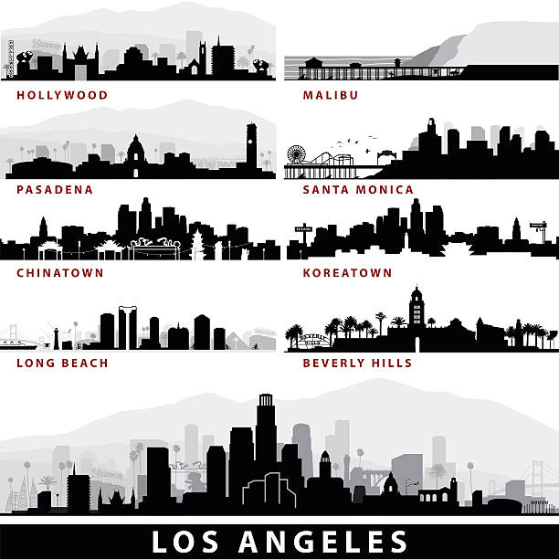 Vector LA Cityscapes Art Illustration