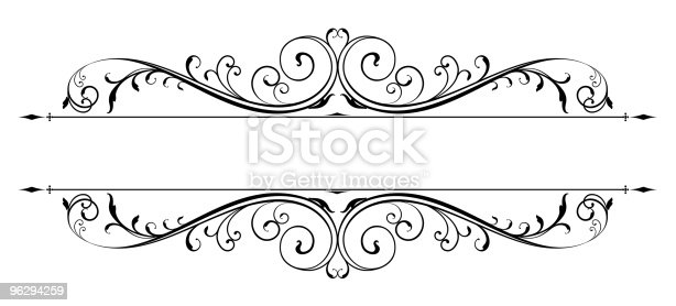 Vectorized Scroll Design with all separated elements. Saved in AI, EPS and JPG.