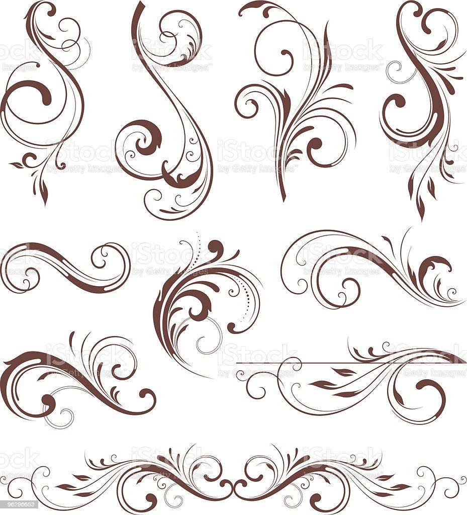 vector_scroll_set vector art illustration