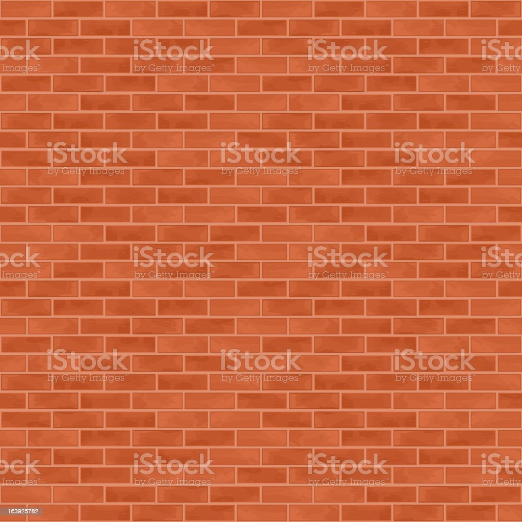 A vectored red and orange brick wall  royalty-free a vectored red and orange brick wall stock vector art & more images of backgrounds