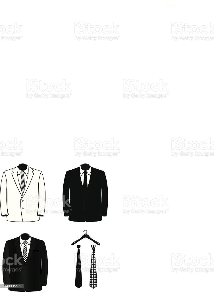 Vectored Suit Coats royalty-free stock vector art