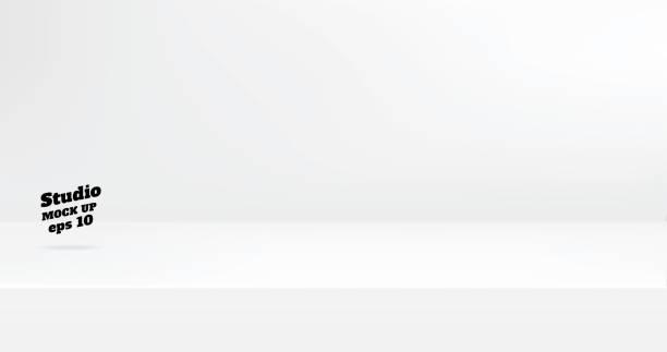 ベクトル、空の白い色スタジオ テーブル部屋背景、コピーのコンテンツのデザインを表示するための領域と製品表示。バナーは、ウェブサイト上の製品をアドバタイズします。 - テーブル 無人点のイラスト素材/クリップアート素材/マンガ素材/アイコン素材