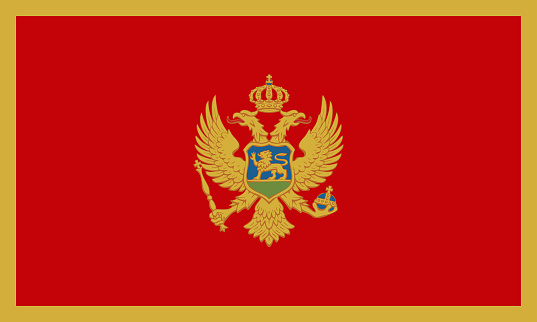 Vectorial illustration of the flag of Montenegro. Concept of the homeland