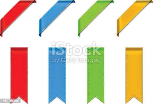 istock Vectorized drawing four colored ribbons 454260551