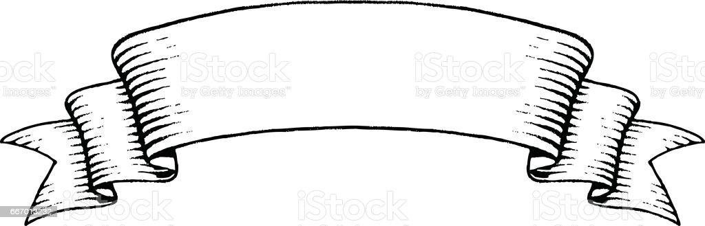 vectorized ink sketch of an old banner stock vector art more rh istockphoto com banner vector free illustrator banner vector graphic