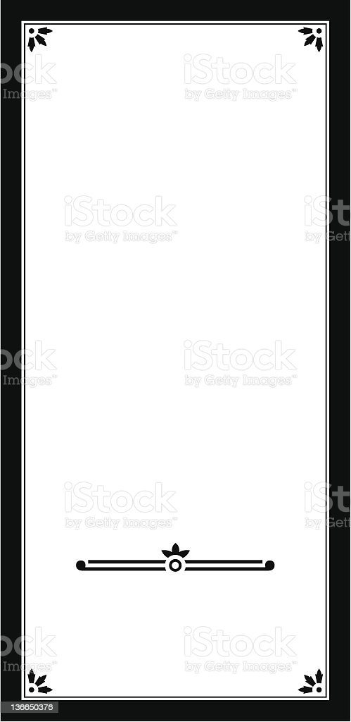 Vectorized Panel Design royalty-free stock vector art