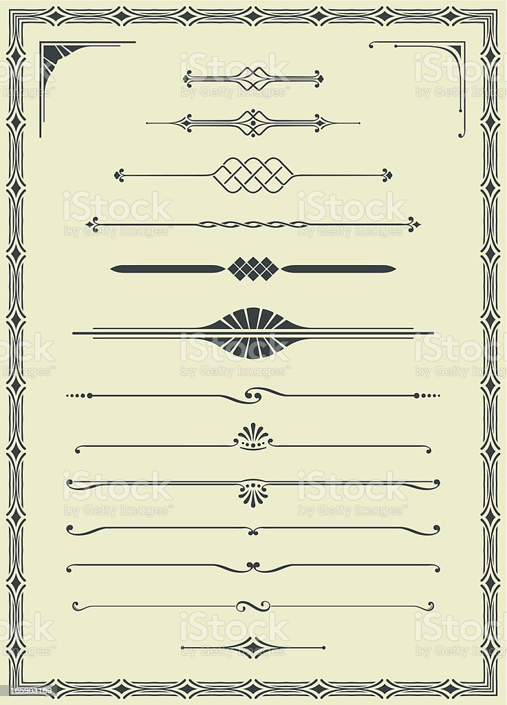 Vectorized Scroll Set and Blank Certificate vector art illustration