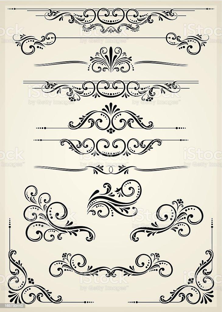 Vectorized Scroll Set royalty-free stock vector art