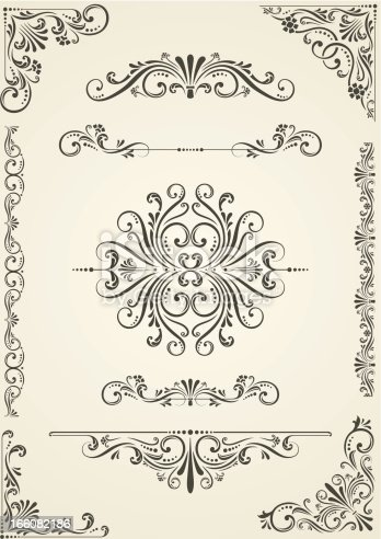 istock Vectorized Scroll Set 166082186