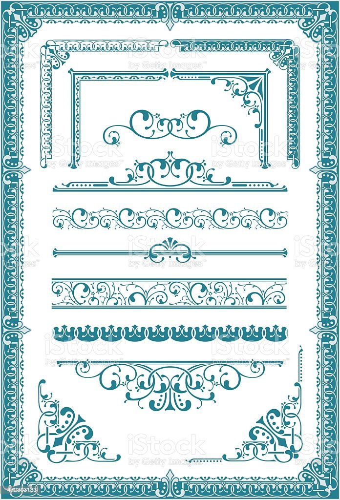 Vectorized Scroll Set royalty-free vectorized scroll set stock vector art & more images of angle