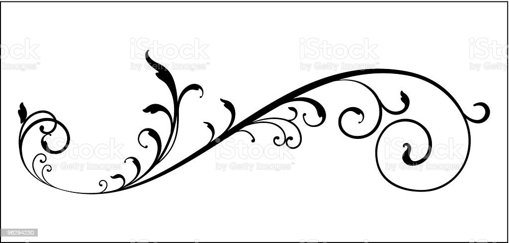 Vectorized_Scroll royalty-free stock vector art