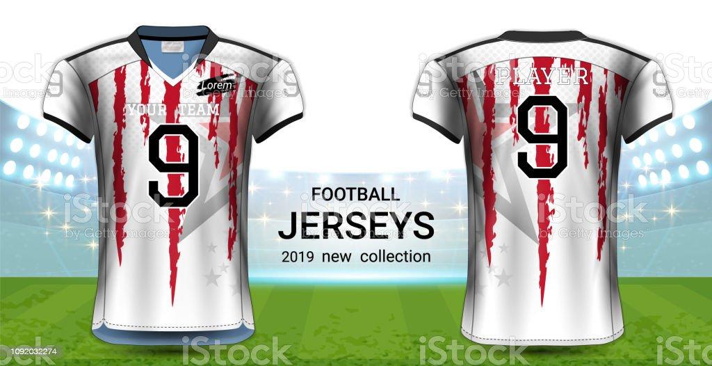 0cb3fc94d00 Vectors American Football Or Soccer Jerseys Uniforms Realistic ...
