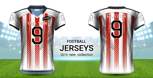 Download Vectors American Football Or Soccer Jerseys Uniforms ...