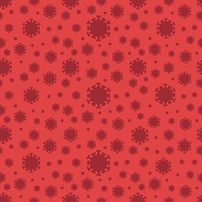 Vectors Corona virus Seamless Background
