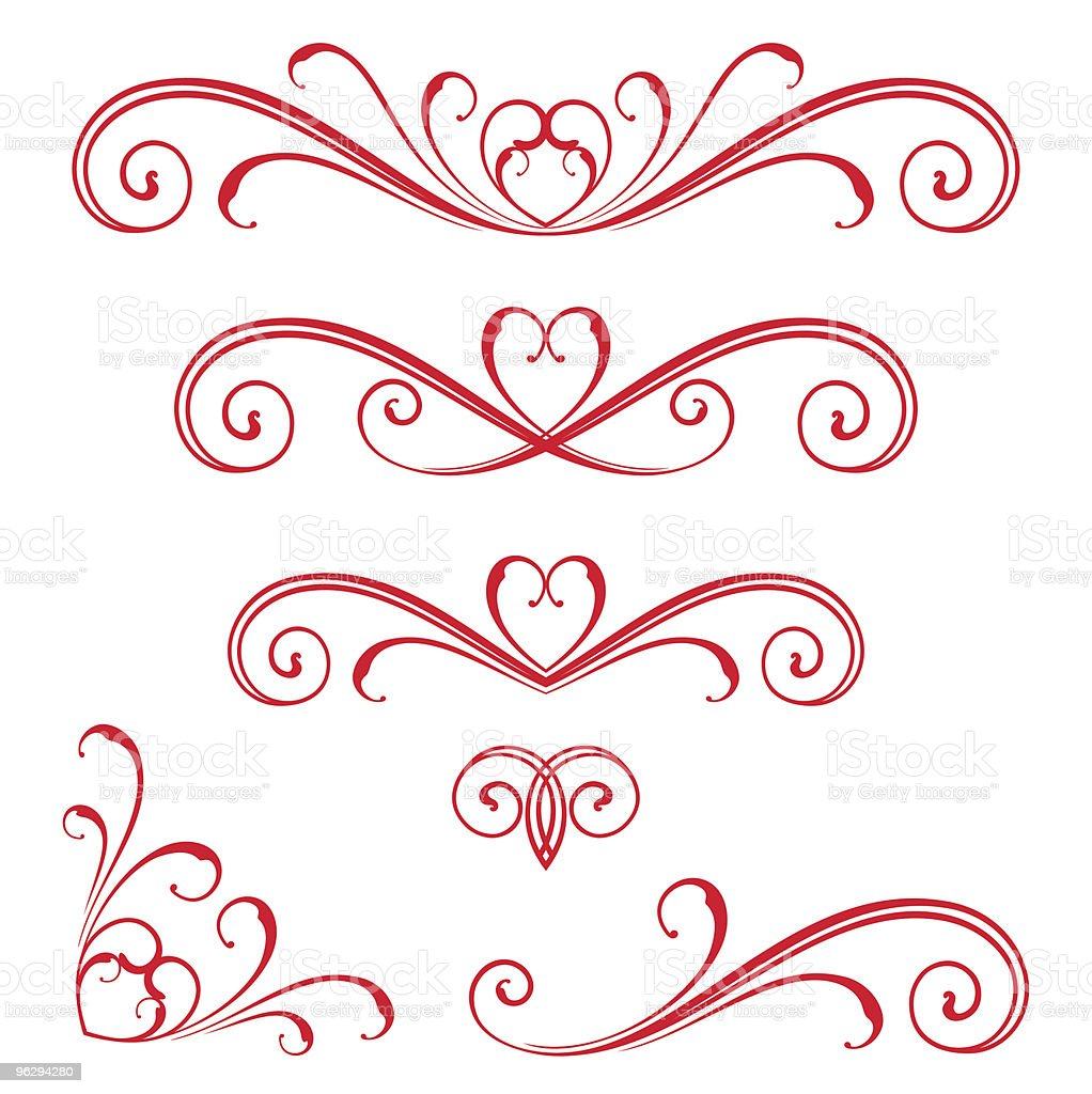 vector-scroll royalty-free stock vector art