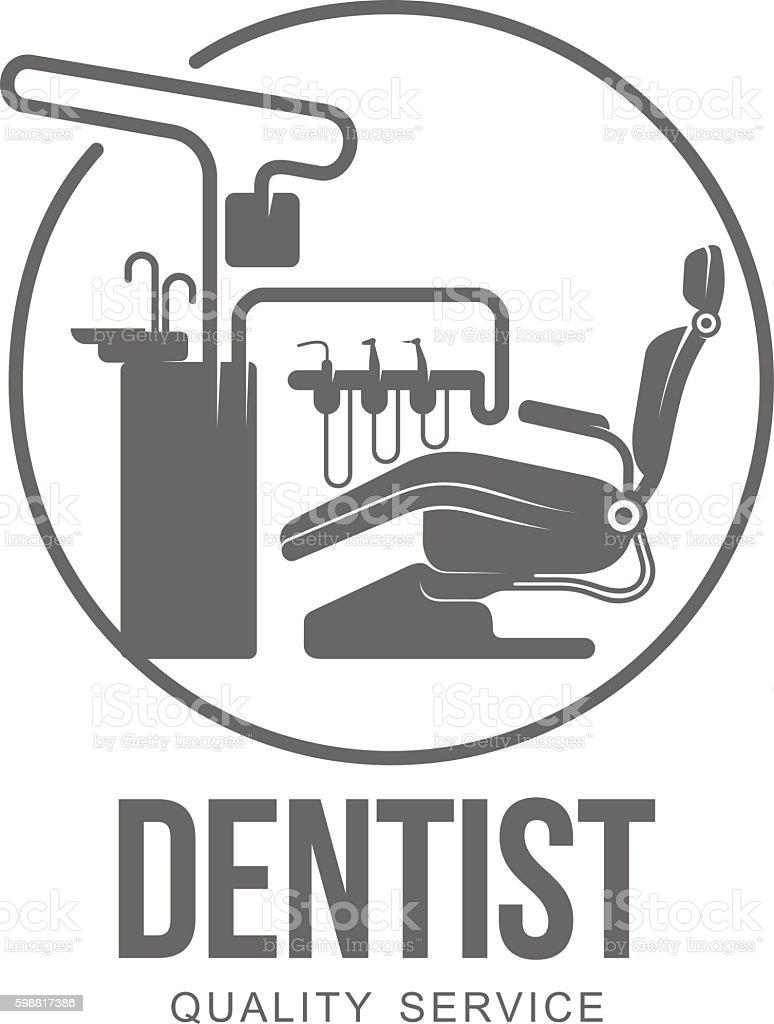 vectot dental logo vector art illustration
