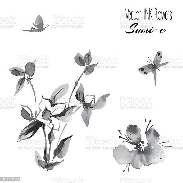 Vectro oriental plants and butterfly roseship hand drawn ink s vector id501775374?b=1&k=6&m=501775374&s=612x612&h= bjbb8pwm7 i2jcggf4ttpxgtkwqemvrfjpigtd02qe=