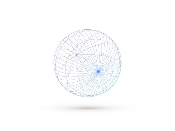 ilustrações de stock, clip art, desenhos animados e ícones de vectror wireframe sphere - longitude