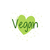 Vegan Banner, speech bubble, poster and sticker concept, Vector Illustration