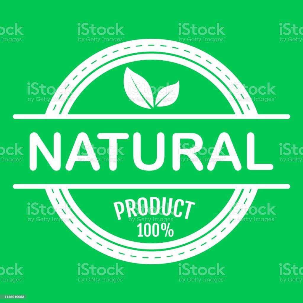 Vegan Bio Ecology Organic Logo And Icon Label Tag Green Leaf Icon On