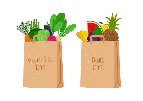 Vegan eco shopping bags